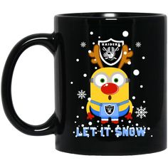 Minion Oakland Raiders Mug Christmas Let It Snow Coffee Mug Tea Mug