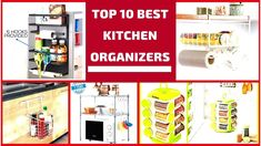 The Top 10 Best Kitchen Organizers for Small Kitchen- Plan N Design Kitchen Organizers, Kitchen Organization, Small Kitchen Plans, Interior Design Videos, Cool Kitchens, How To Plan, Top, Kitchen Storage, Kitchen Organisation