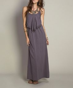 This Gray Sheena Maxi Dress is perfect! #zulilyfinds