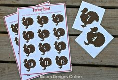 11 Thanksgiving Games for Kids and Families: Turkey Hunt by Bloom Designs