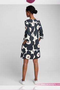 Unelma Unikko dotted dress - Marimekko - Black and White Diy Dress, Dress Skirt, Marimekko Dress, Looks Plus Size, Clothing Sites, Designing Women, Dress Patterns, Cool Outfits, Fashion Dresses