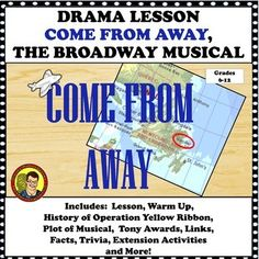 """Come From Away, the musical """"genuinely captures the power of the human spirit in times of crisis during reminding us all that even when it may seem like the world is ending, somewhere in a tiny town no one has heard of people are performing selfless Letter To Teacher, Drama Teacher, Teacher Notes, Teacher Pay Teachers, School Resources, Teacher Resources, Hamilton, Come From Away, Wicked"""