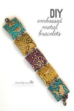 Jewelry Tutorial Embossed Metal Squares Bracelet
