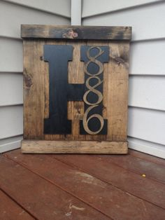 Custom Monogrammed Outdoor Entry Sign Solid by MasonCountryCrafts, $56.00