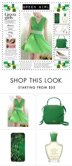 """•Green Girl•"" by srtayeah ❤ liked on Polyvore featuring Green Girls, Kate Spade, Ardell, Creed and Wallflower"