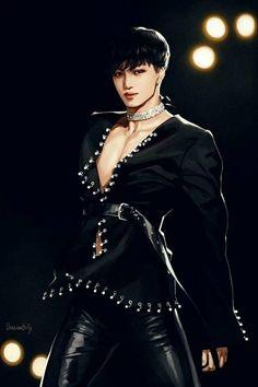 EXO Fanart - This is the album Ris wants to save the beautiful Fanart and wants to share with m … # - Chanyeol Baekhyun, Exo Kai, Chen, Kai Arts, Exo Anime, Exo Lockscreen, Wallpaper Lockscreen, Wallpapers, Exo Fan Art