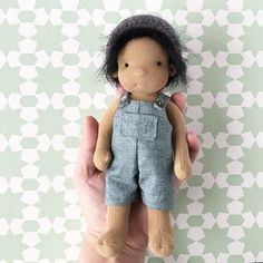 Small Waldorf boy doll Steiner boy doll pocket doll