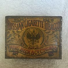 RARE RUSSIAN CIGARETTE TOBACCO TIN !REALLY HARD TO FIND!