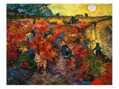 The Red Vineyard at Arles, c.1888 Giclee Print by Vincent van Gogh at Art.com