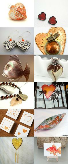 We Heart Orange! by Cyndie Smith on Etsy--Pinned with TreasuryPin.com