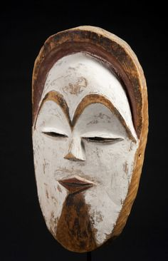 Of classical form, finely carved with remains of black pigment on the hairline, brow, and chin. Remaining red and white pigment throughout. African Masks, African Art, Atelier D Art, African Sculptures, Black Pigment, Cultural Identity, Z Arts, Masks Art, Tribal Art