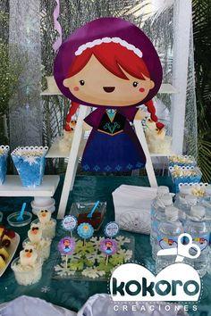 FROZEN MESA DE POSTRES www.facebook.com/kokorocreaciones, Colima, Col. cel 3121420083