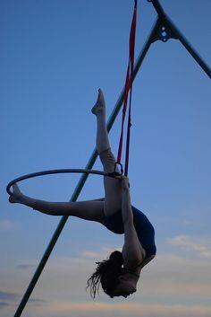 - aerial hoop