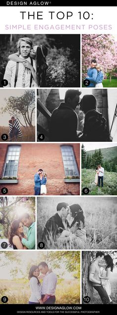 The Top 10: Simple Engagement Poses #designaglow