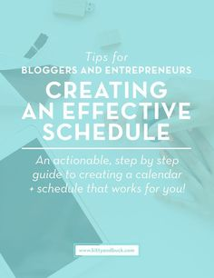 """Tips for Bloggers, Entrepreneurs and Small business owners. Creating a schedule + Calendar that works for you. Part of a FREE 7-day Course called """"Productivity For Creative Thinkers"""". Click through to get on top of your calendar organization and to find out more about the free course!   by Kitty & Buck"""