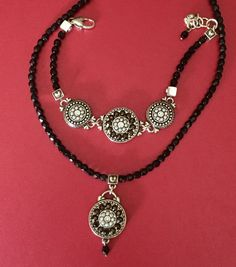 Vintage brighton open scroll heart necklace mint condition vintage black bead brighton necklace and bracelet set estate jewelry reversible brighton jewelry brighton bracelet brighton necklace mozeypictures Images