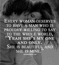 I deserve....