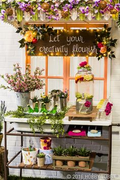 Looking for a stylish way to display your summer refreshments? Try embellishing mason jars with bright florals!