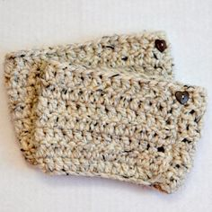 These boot cuffs are quick and easy to crochet, even for beginners.  They took less than an hour and cost less than $5.