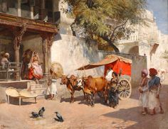 Two girls and their gharry - Edwin Lord Weeks