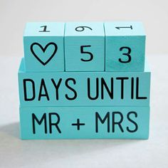 Cute count down days until you tie the knot
