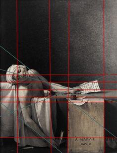 Study of perspective. La mort de Marat, Jacques-Louis David, 1793