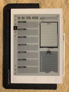 Project Planner Template, List Template, Templates, To Do Planner, Weekly Planner, E Ink Display, No Spend Challenge, Family Command Center, Important Dates