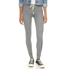 SUNDRY Tribal Skinny Sweatpants ($105) ❤ liked on Polyvore featuring activewear, activewear pants, heather grey, skinny sweat pants, cuff sweatpants, sweat pants, lightweight sweatpants and sundry sweatpants