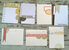 Make your own journaling cards for Project Life; love these!  :o)