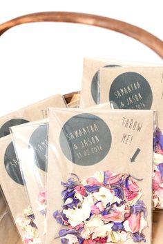 Personalised Wedding Confetti Envelopes by Confetticonecompay
