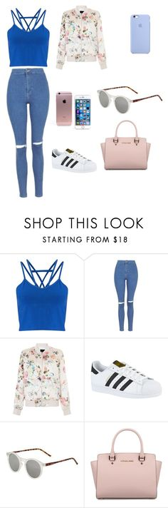 """Casual"" by adri1820 ❤ liked on Polyvore featuring Miss Selfridge, Topshop, New Look, adidas and Michael Kors"