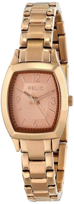 Relic Women's ZR34272 Everly Rose Gold Watch >>> You can get more details by clicking on the image.