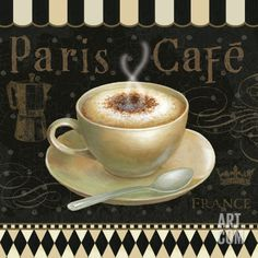 5 servilletas Coffee café serviettentechnik Cafe Au Lait espresso cappuccino
