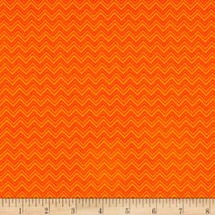 Monster Trucks Diggity Ziggity Outrageous Orange from @fabricdotcom  Designed by Sue Marsh for RJR Fabrics, this cotton print fabric features a chevron design in a classic construction cone shade of orange. Perfect for quilting, apparel and home decor accents. Colors include shades of orange.