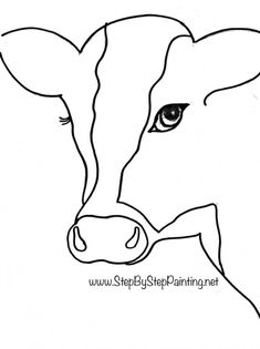 sketches step by step Free Traceables - Step By Step Painting Cow Paintings On Canvas, Cow Canvas, Animal Paintings, Canvas Art, Free Canvas, Indian Paintings, Black Canvas, Acrylic Painting For Beginners, Acrylic Painting Tutorials