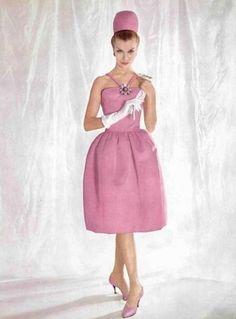 1960 - Yves Saint Laurent for Christian Dior dress