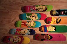 more skateboard art!