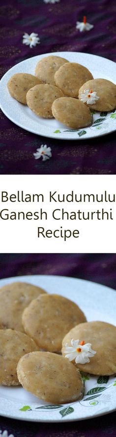 Bellam Kudumulu Recipe - South Indian Steamed Rice Flour Sweet Dumplings Recipe with step by step pics and VIDEO. Ganesh Chaturthi / Vinayaka Chavithi festival recipes
