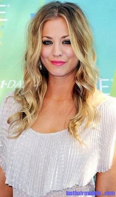 kaley cuoco(penny fro the bigbang theory)  - I love her hair!