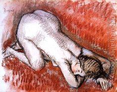 Kneeling Nude  Edgar Degas