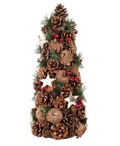 Traditional Pine Cone Tree Christmas Decoration. Available in selected stores for €7.95