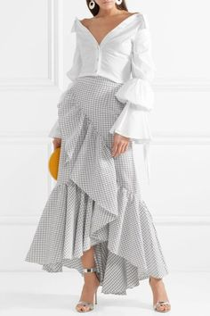 Skirts For Women – My WordPress Website Modest Fashion, Hijab Fashion, Fashion Dresses, Ruffle Skirt, Dress Skirt, Hijab Stile, Cotton Maxi Skirts, African Dress, Skirt Outfits