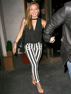 Hilary Duff heads to dinner Wednesday at West Hollywoods Madeo restaurant.