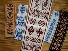 Inkle Weaving Patterns, Loom Weaving, Loom Patterns, Inkle Loom, Tablet Weaving, Simple Embroidery, Key Fobs, Bohemian Rug, Textiles