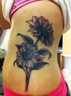 Sunflowers Tattoo Design, like this Val, but we will make it brighter, happier...sunnier :-)