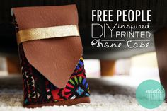 DIY: Free People Inspired Phone Case (I want to size this up for my laptop)