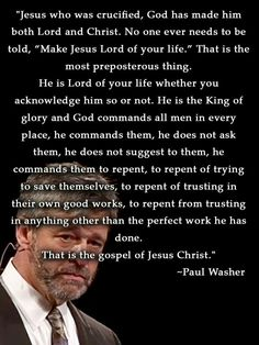 christian quotes | Paul Washer quotes | gospel | Jesus Christ