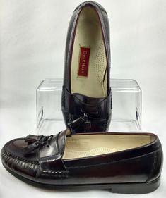 c97af8f16a5 Cole Haan Pinch Tassel Loafer Mens Sz 10.5 D Burgundy Leather Slip On Shoe  03507