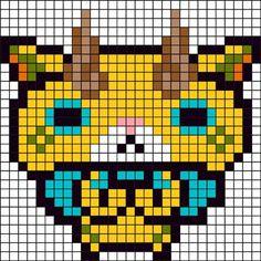 アイロンビーズ図案(コマジロウ)1.jpg 411×411ピクセル