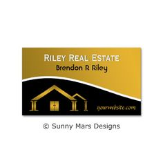 40 best business cards images on pinterest custom business cards this real estate agent business card features an elegant gold home icon against a black and gold background perfect for home builders contractors reheart Images